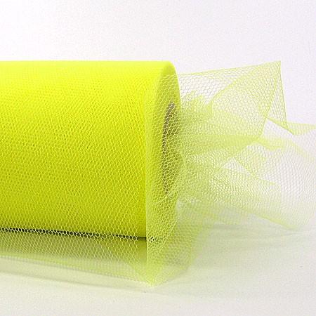 Tüllband, 100mm breit / 50m-Rolle, gelb