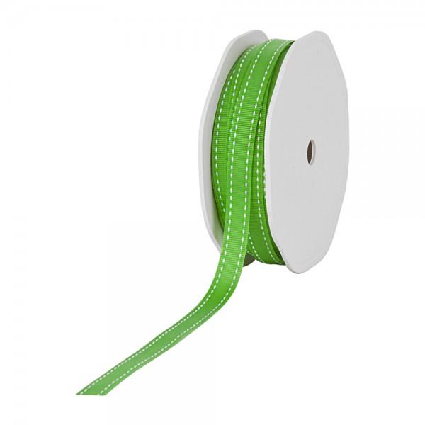 Ripsband-STITCHES, 10mm breit / 20m-Rolle, maigrün