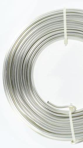 """ALUMINIUM-""""Rund""""-Draht 2mm Ø - silber- 60 Meter = 500 Gramm"""