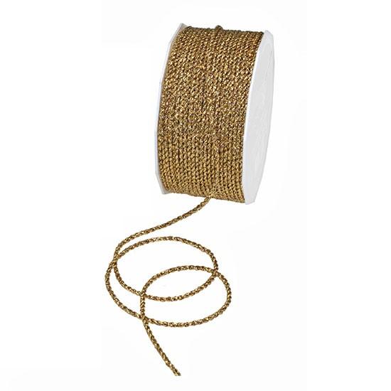 Lurex-kordel, gold: 2mm Ø / 50m-Rolle