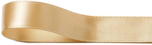 Satinband, kaschmir-beige: 10 mm breit / 25 Meter, mit feiner Webkante