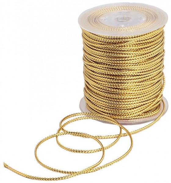 SCHMUCK-Kordel, gold: 1 mm Ø breit / 100 Meter