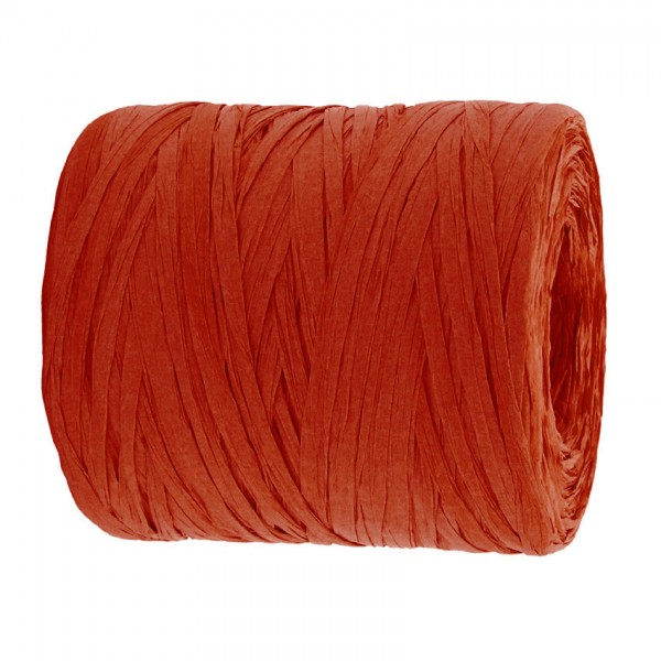 PAPER-Raffia-Bast, rot: 5mm breit / 200m-Rolle