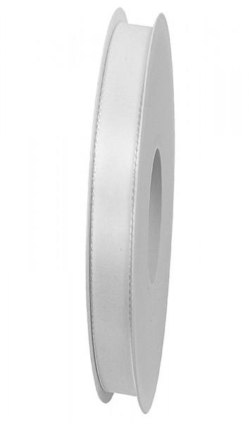 Taftband, weiss: 10mm breit / 50-Rolle, mit feiner Webkante