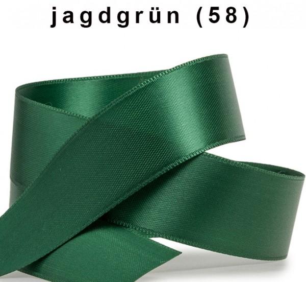 Satinband-SATINA: 15mm breit / 50m-Rolle, jagdgrün