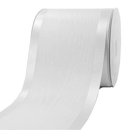 Satinband-Tischband Luxury: 100 mm breit / 20 m-Rolle, weiss