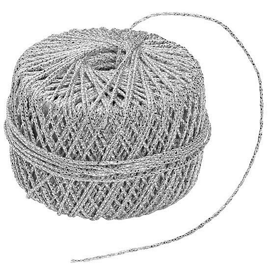 GARN-Kordel: 1,2 mm Ø / 20m-Rolle, silber