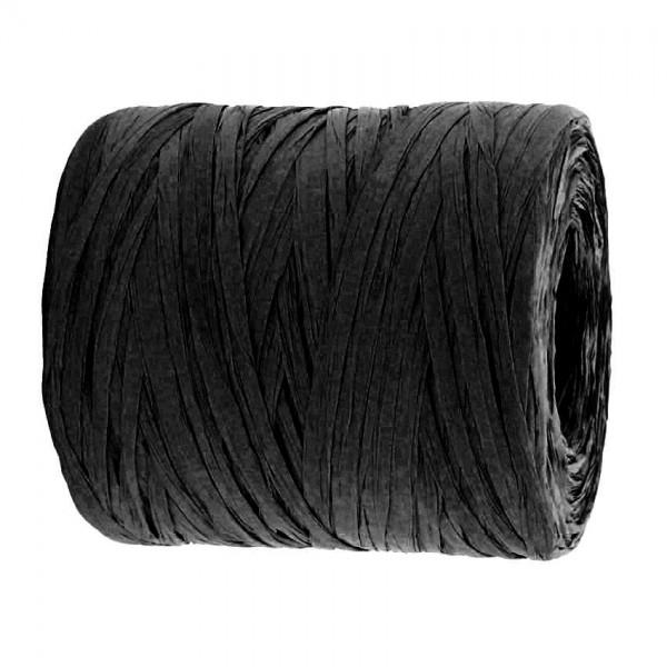 PAPER-Raffia-Bast, schwarz: 5mm breit / 200m-Rolle.