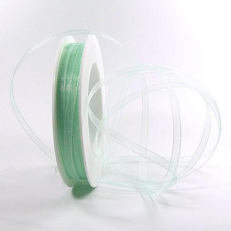 Organzaband: 5mm breit / 50m-Rolle, türkis