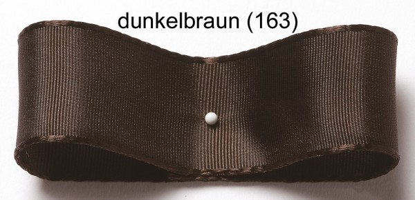 Seiden-/Satinband: 38mm breit / 25m-Rolle, dunkelbraun