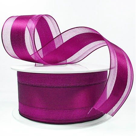 Dekorband Charming, pink: 40mm breit / 25m-Rolle.