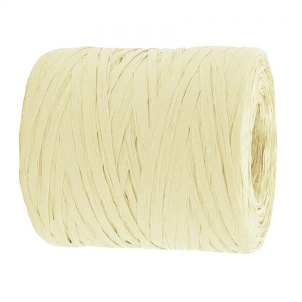 PAPER-Raffia-Bast, creme: 5mm breit / 200m-Rolle