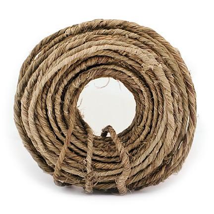 "Jute-Draht ""RUSTIC-WIRE"", natur: 3 - 5mm Ø breit / 22m-Ring"