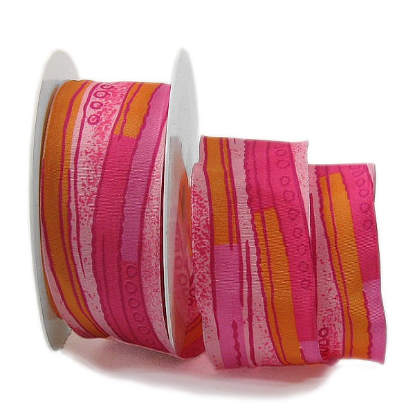 Elements-Dekorband: 40mm breit / 25m-Rolle, mehrfarbig