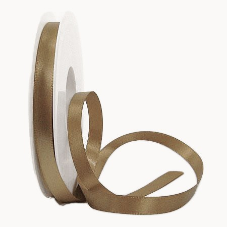 Satinband-SINFINITY, bronze: 10mm breit / 25m-Rolle, mit feiner Webkante
