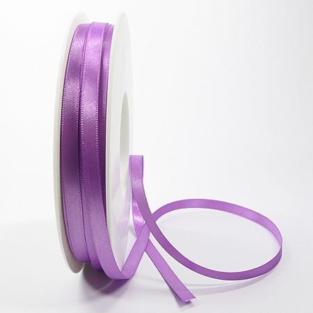 Satinband-SINFINITY, lavendel: 6mm breit / 50m-Rolle, mit feiner Webkante