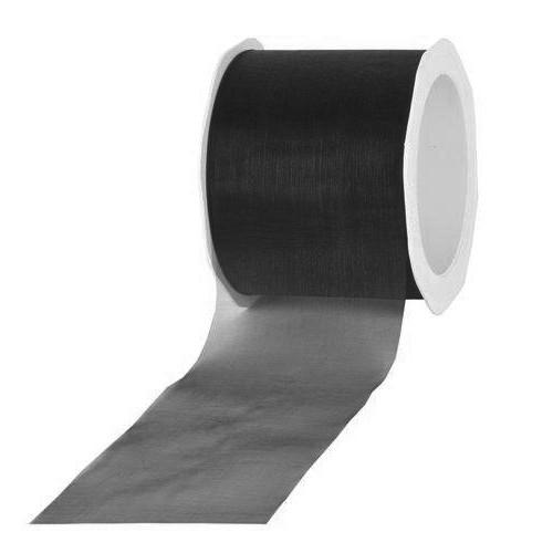 Schnitt-Organzaband, schwarz: 70mm breit / 45m-Rolle.