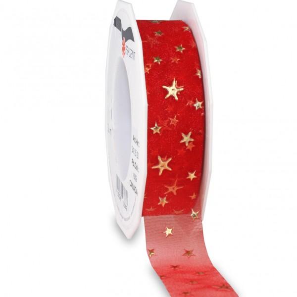 Weihnachtsband-CANADA, rot: 25mm breit / 20m-Rolle