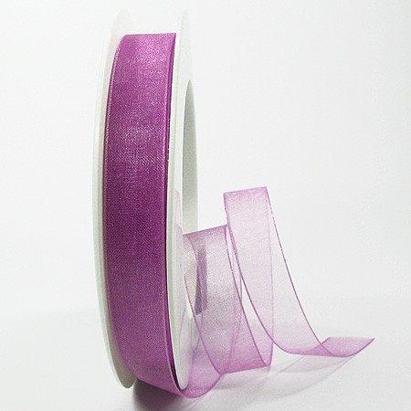 Organzband lavendel: 15mm breit / 25m-Rolle: 1250015133