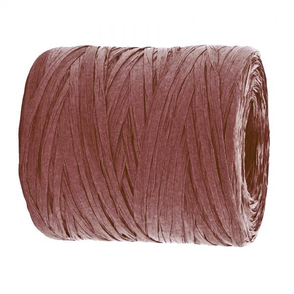PAPER-Raffia-Bast, bordeaux: 5mm breit / 200m-Rolle
