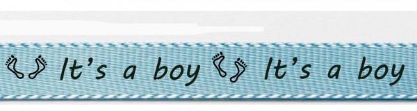 """Babyband """"It's a boy"""", hellblau"""