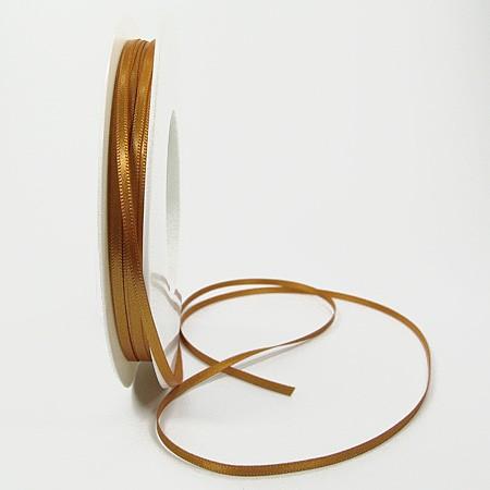 Satinband-SINFINITY, caramel: 3mm breit / 50m-Rolle, mit feiner Webkante.