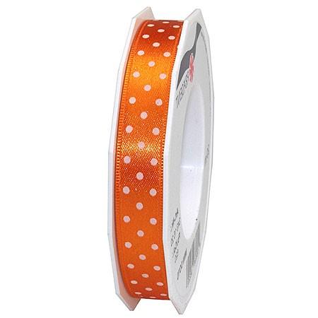Pünktchenband, orange: 15mm breit / 20m-Rolle