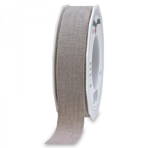 LEINEN, grau, 25mm breit / 15m-Rolle