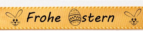 Frohe Ostern gelb: 15mm breit / 25m-Rolle