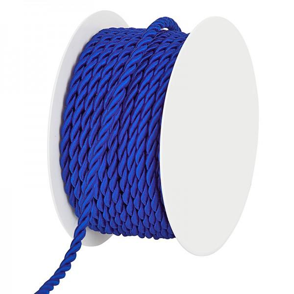Kordel, einfarbig gedreht: 6mm breit Ø / 25m-Rolle, royalblau
