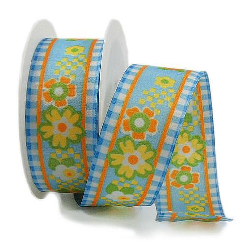 Hippie Styl-Dekorband: 40mm breit / 25m-Rolle, mehrfarbig.