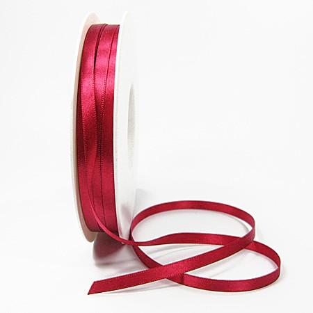 Satinband-SINFINITY, brombeer: 6 mm breit / 50m-Rolle, mit feiner Webkante.
