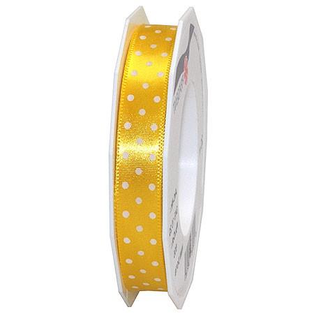 Pünktchenband, gelb: 15mm breit / 20m-Rolle