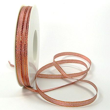 Brokatband, 6mm breit / 50m-Rolle, Kupfer