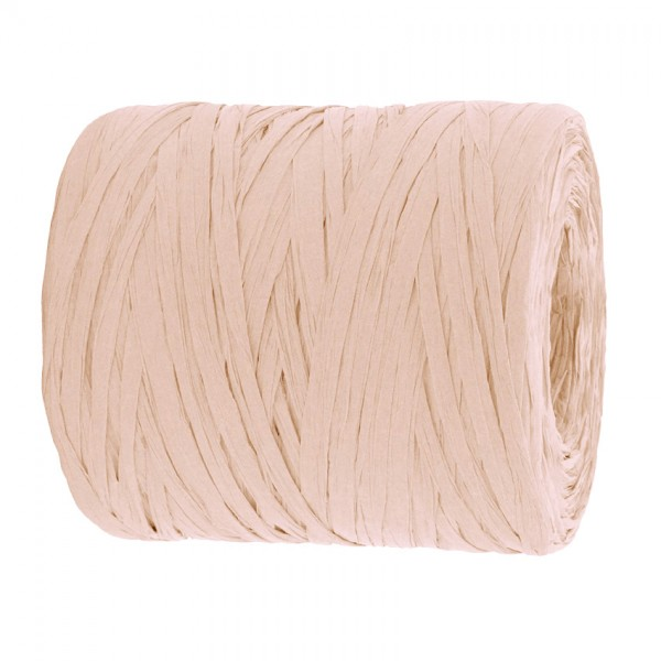 PAPER-Raffia-Bast, hellrosa: 5mm breit / 200m-Rolle