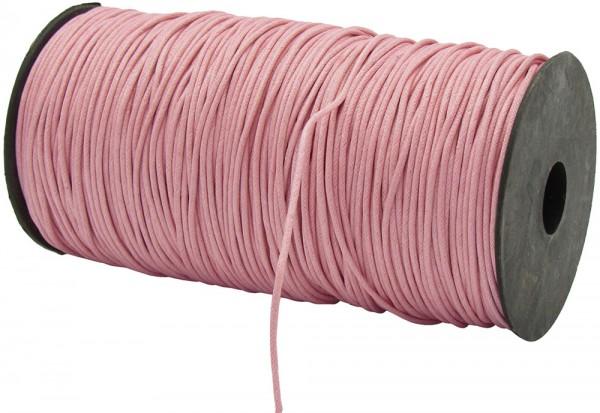 Gewachste Baumwollkordel, rosa: 1,5 mm Ø breit / 200 Meter