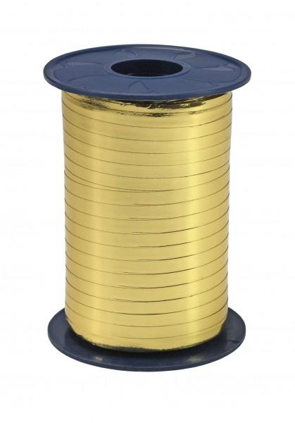 Polyringelband: 5mm breit / 400m-Rolle, gold-metallic