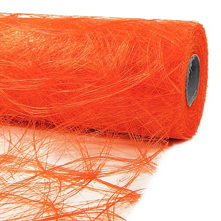 Sizoweb®, orange - Dekovlies 30cm breit / 25m-Rolle