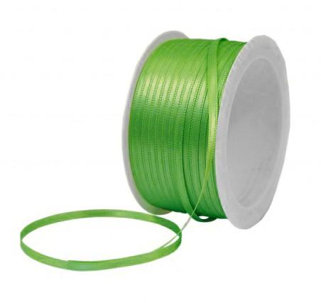 Satinband SATINA: 3 mm breit, 50 Meter, maigrün
