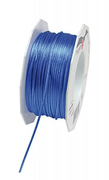 Satinkordel, himmelblau: 3 mm breit / 50-Meter-Rolle