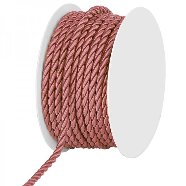 Kordel, einfarbig gedreht: 4mm breit Ø / 25m-Rolle, altrosa