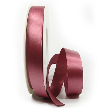 Satinband-SINFINITY, altrosa: 15mm breit / 25m-Rolle, mit feiner Webkante