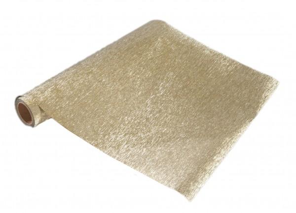 Tischband MEMORY, gold: 250mm breit / 5m-Rolle.