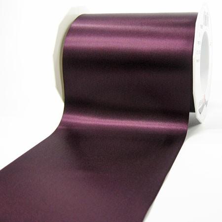 Satinband-ADRIA, aubergine - Tischband: 112 mm breit / 25 m