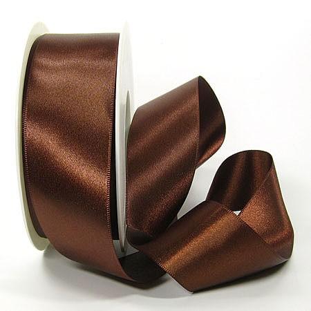 Satinband-SINFINITY, kaffeebraun: 38mm breit / 25m-Rolle, mit feiner Webkante