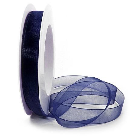 Organzaband: 15mm breit / 25m-Rolle, nachtblau: 1250015086