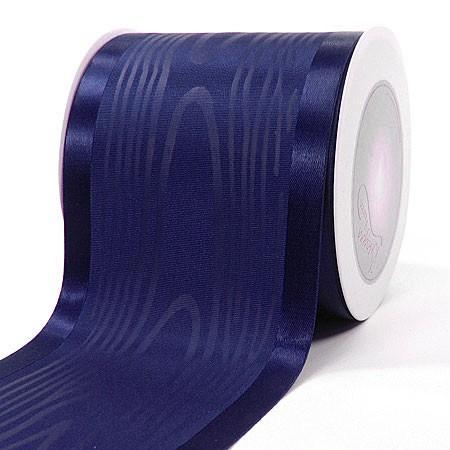 Satinband-Tischband Luxury: 100mm breit / 20m-Rolle, marineblau.
