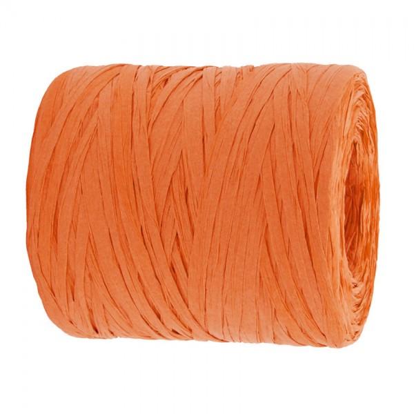 PAPER-Raffia-Bast, orange: 5mm breit / 200m-Rolle