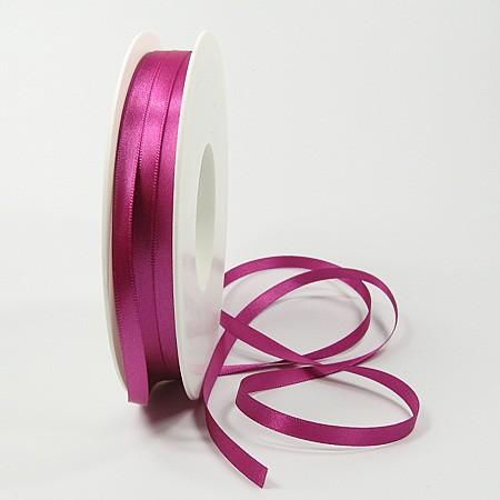 Satinband SINFINITY, pink: 6mm breit / 50m-Rolle, mit feiner Webkante.