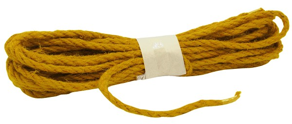 JUTE-Kordel, curry: 5mm breit - 10m